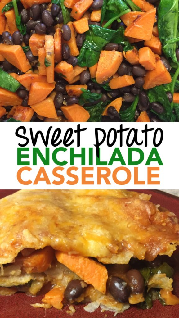 sweet potato enchilada casserole, black bean casserole