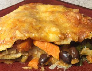 sweet potato enchilada casserole