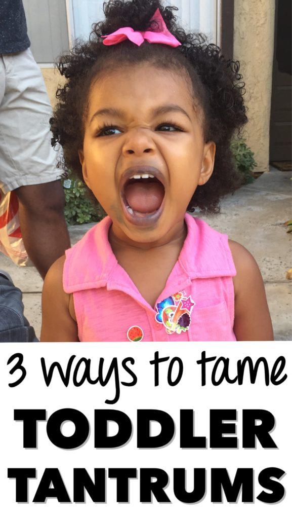 tame toddler tantrums