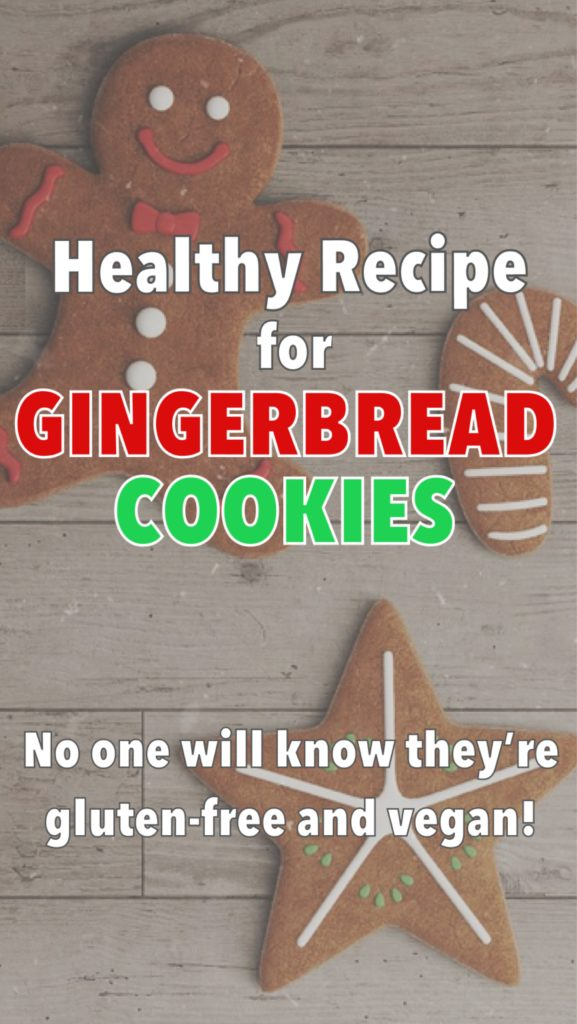 Healthy gingerbread cookies, baking with kids, gluten-free and vegan treats