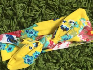 Zero to two yellow floral headband for babies and toddlers
